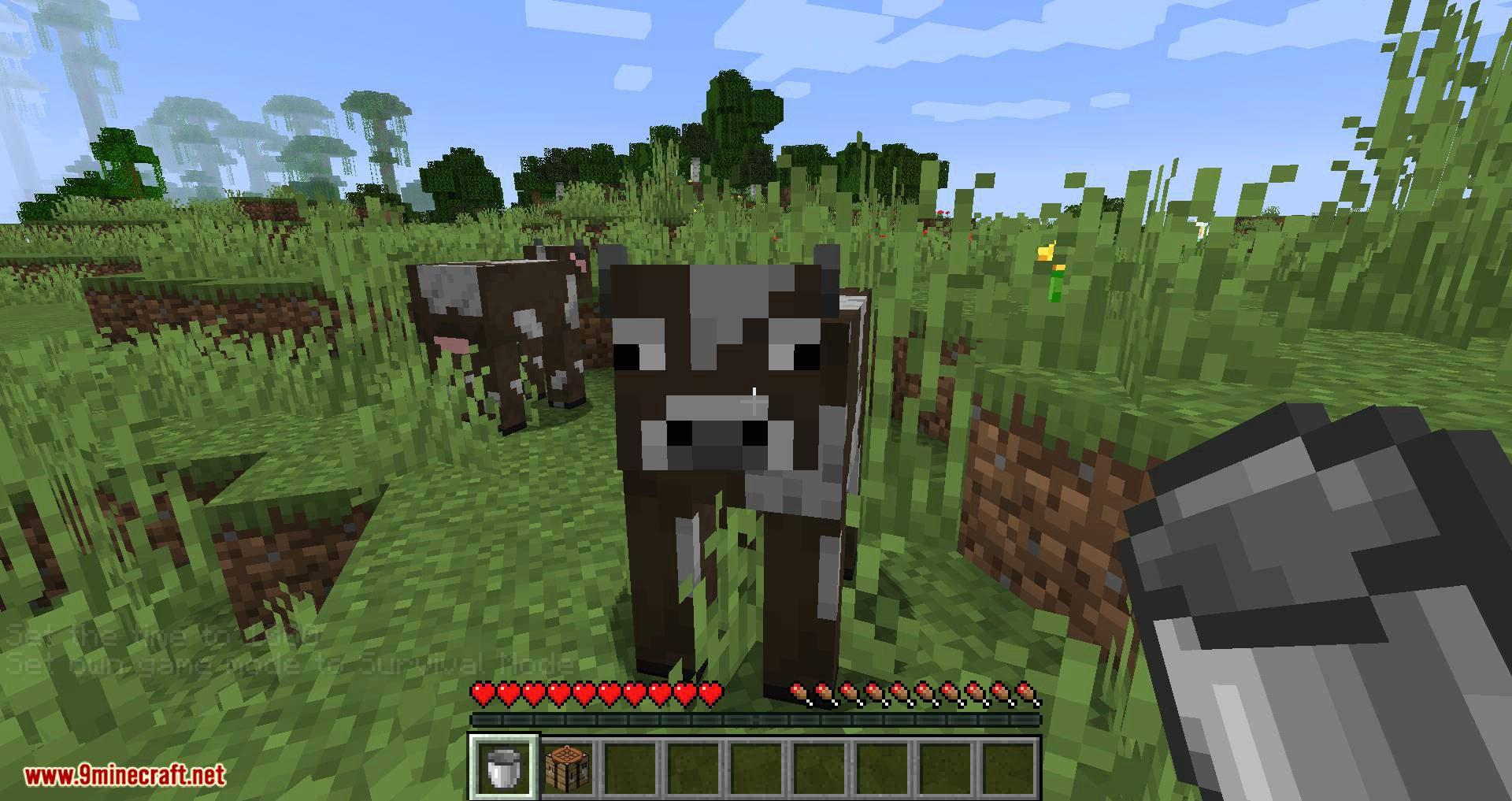 Nutritious Milk mod for minecraft 04