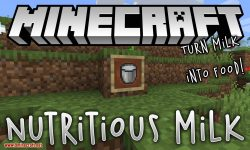 Nutritious Milk mod for minecraft logo