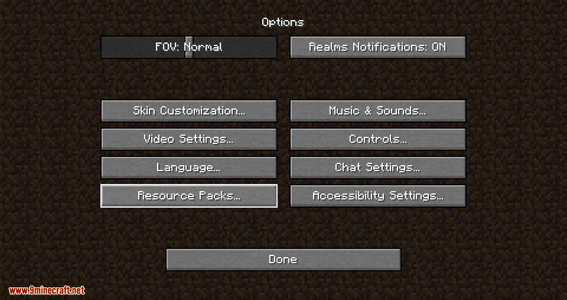 Resource Pack Organizer mod for minecraft 02