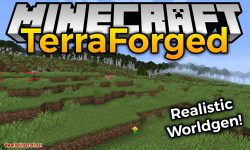 TerraForged mod for minecraft logo