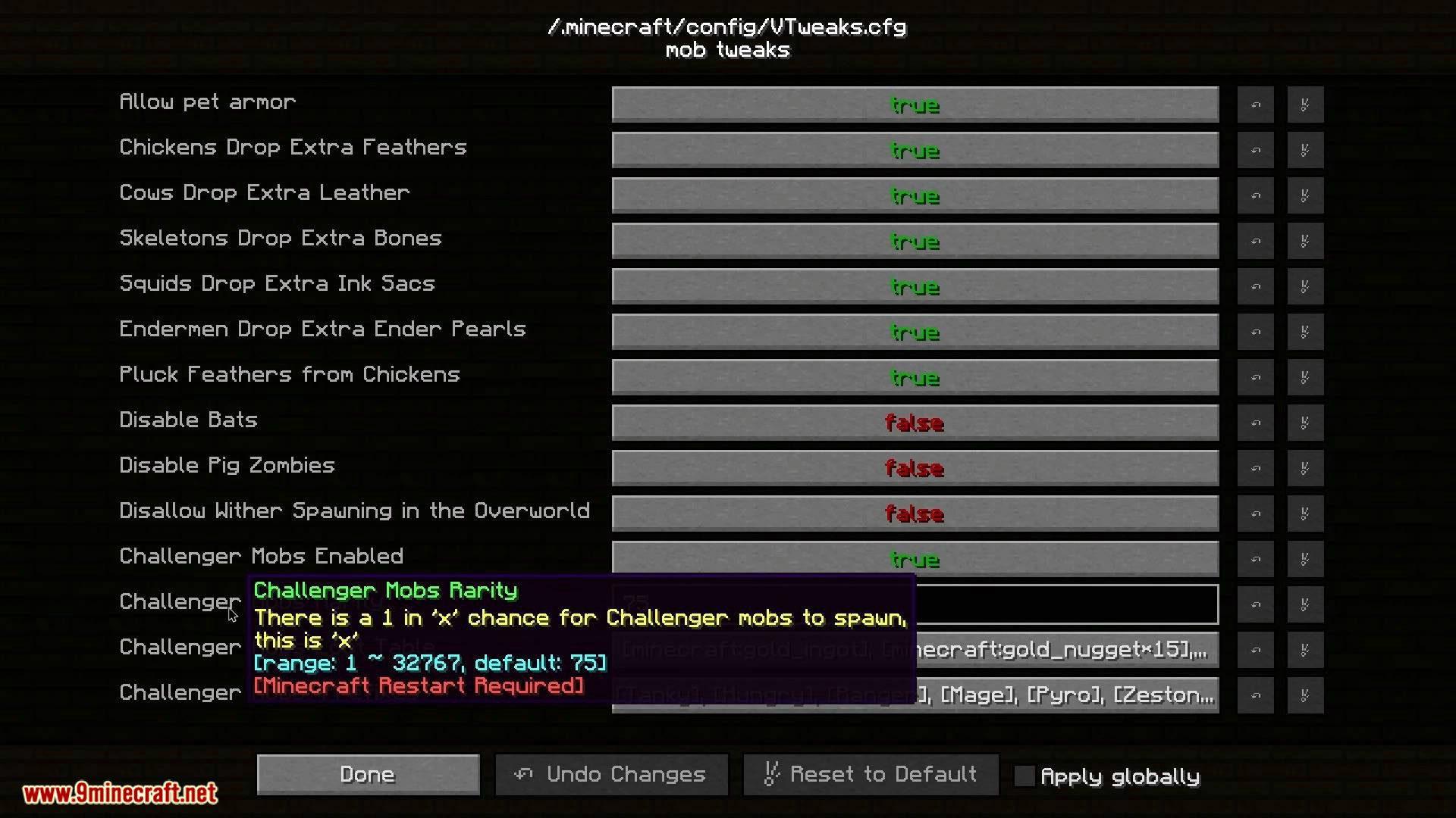V-Tweaks mod for minecraft 07