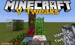 V-Tweaks mod for minecraft logo