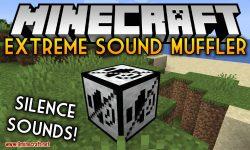 extreme sound muffler mod for minecraft logo