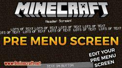 pre menu screen mod for minecraft logo