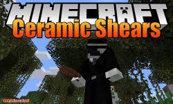 Ceramic Shears mod for minecraft logo