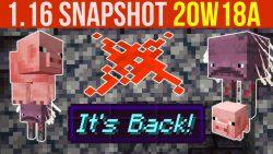 Minecraft 1.16 Snapshot 20w18a