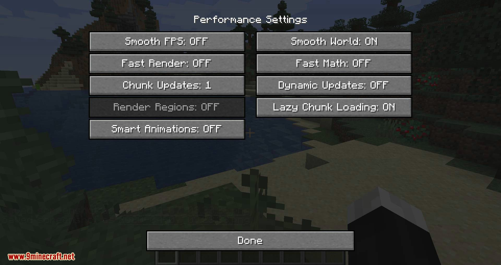 OptiForge mod for minecraft 03