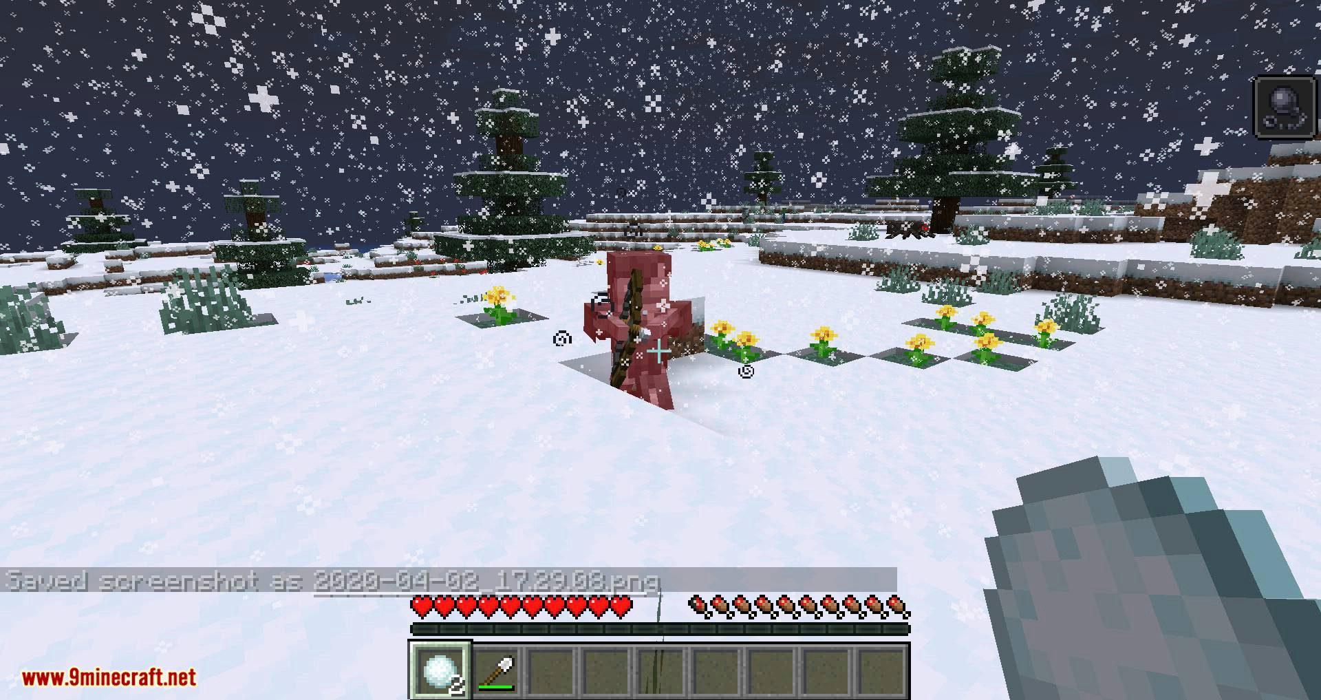 Snowballs Freeze Mobs mod for minecraft 07