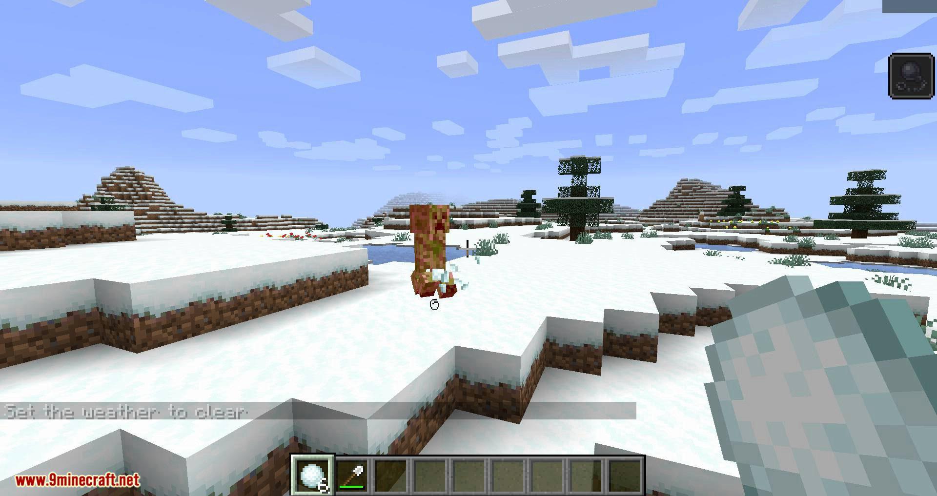 Snowballs Freeze Mobs mod for minecraft 08