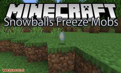 Snowballs Freeze Mobs mod for minecraft logo