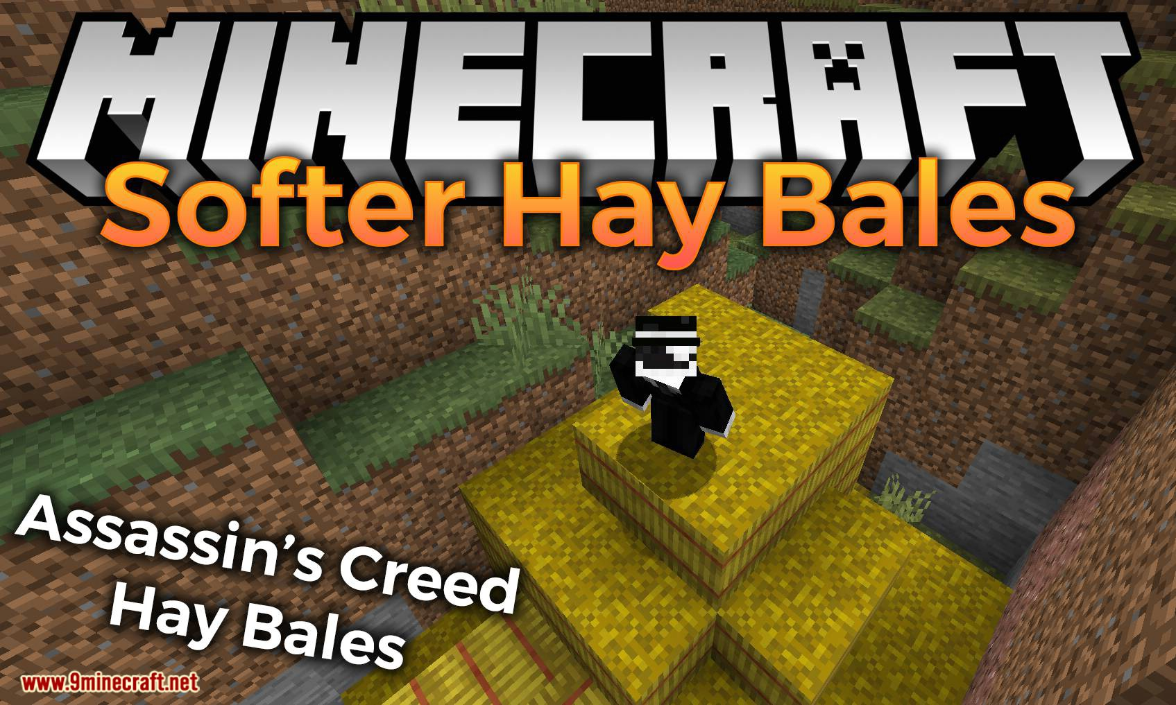 Softer Hay Bales mod for minecraft logo