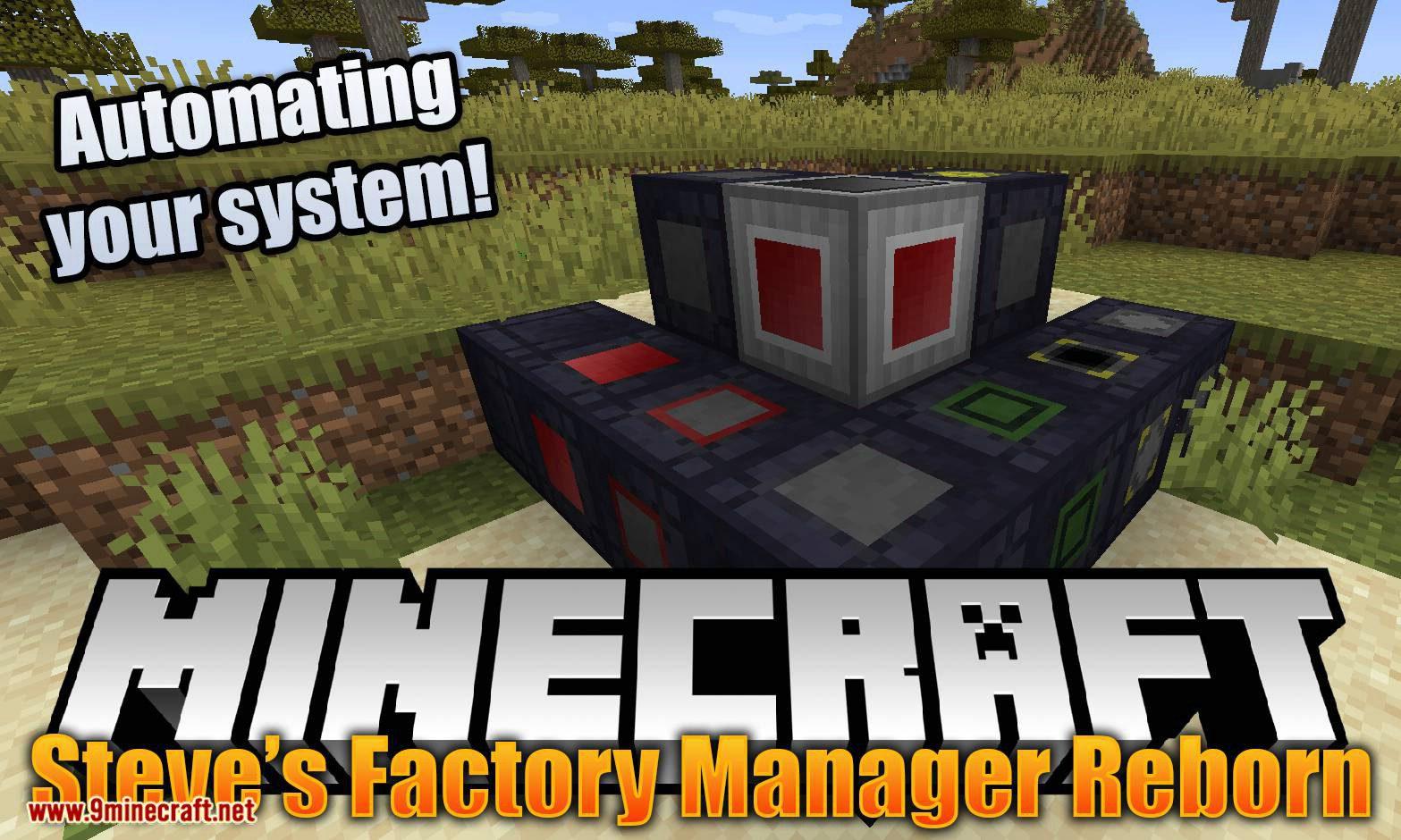 Steve_s Factory Manager Reborn mod for minecraft logo