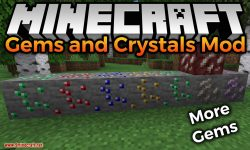 Gems and Crystals Mod for minecraft logo