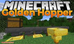 Golden Hopper mod for minecraft logo