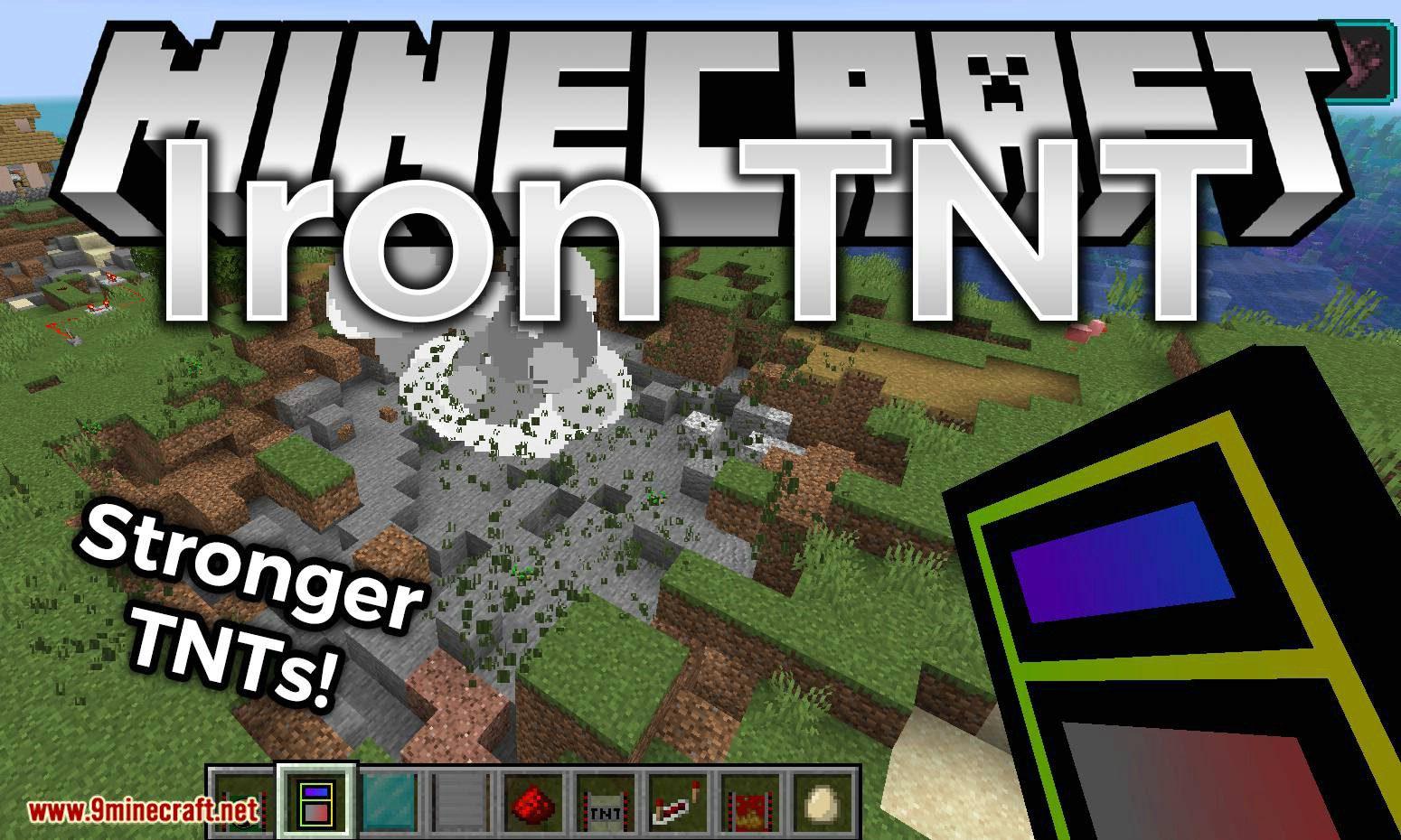 Iron TNT mod for minecraft logo