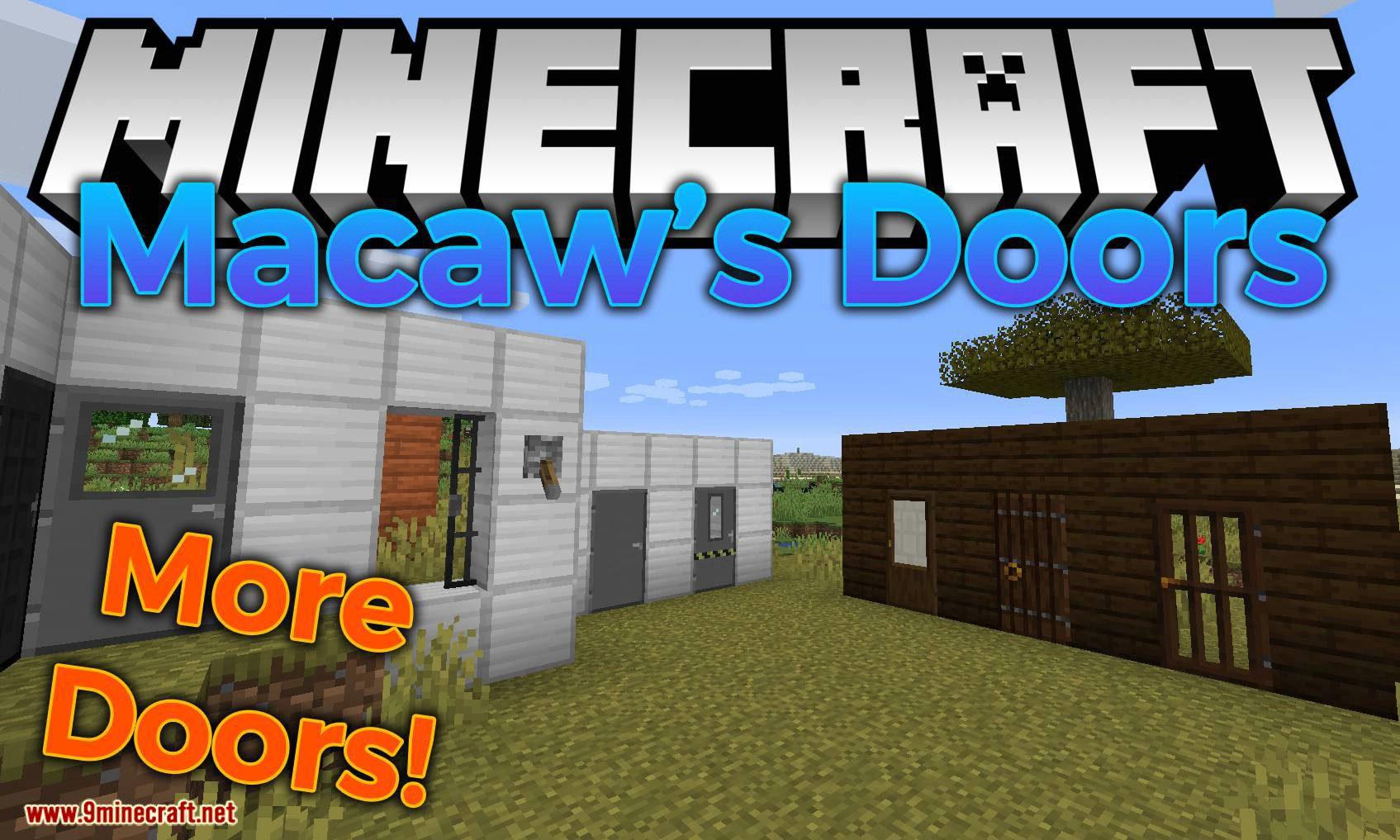 Macaw_s Doors mod for minecraft logo