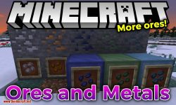 Ores and Metals mod for minecraft logo