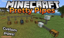 Pretty Pipes mod for minecraft logo