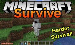 Survive mod for minecraft logo
