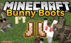 Bunny Boots mod for minecraft logo