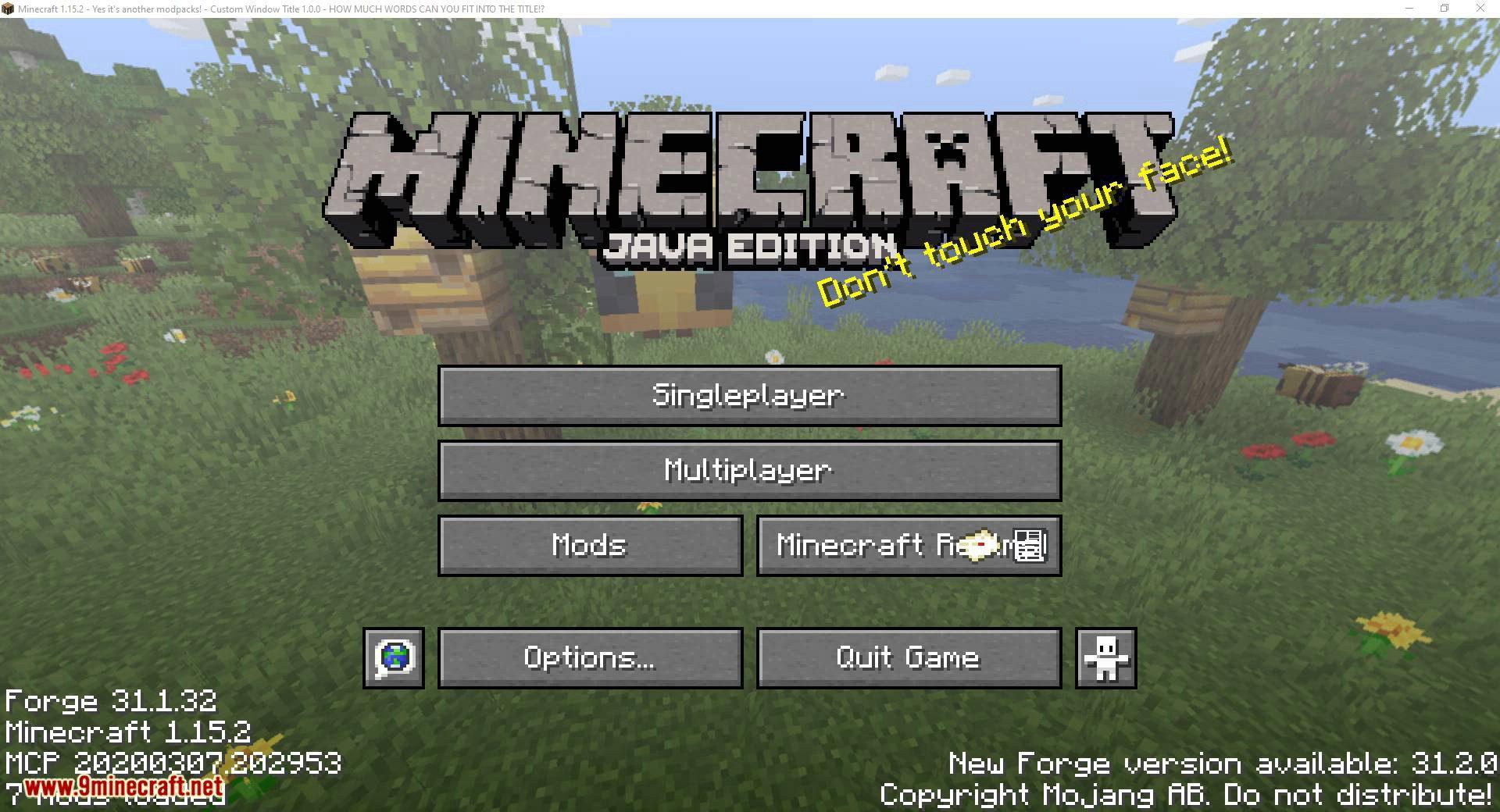 Custom Window Title mod for minecraft 08
