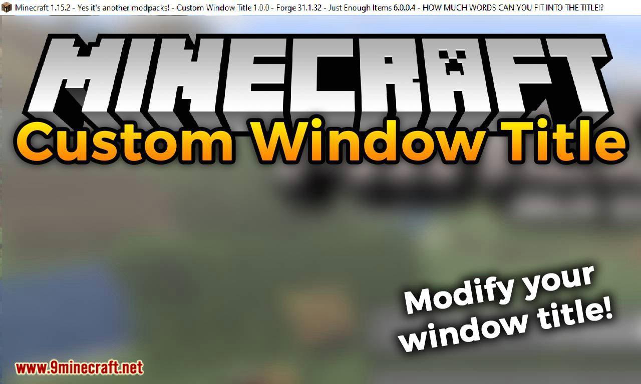 Custom Window Title mod for minecraft logo