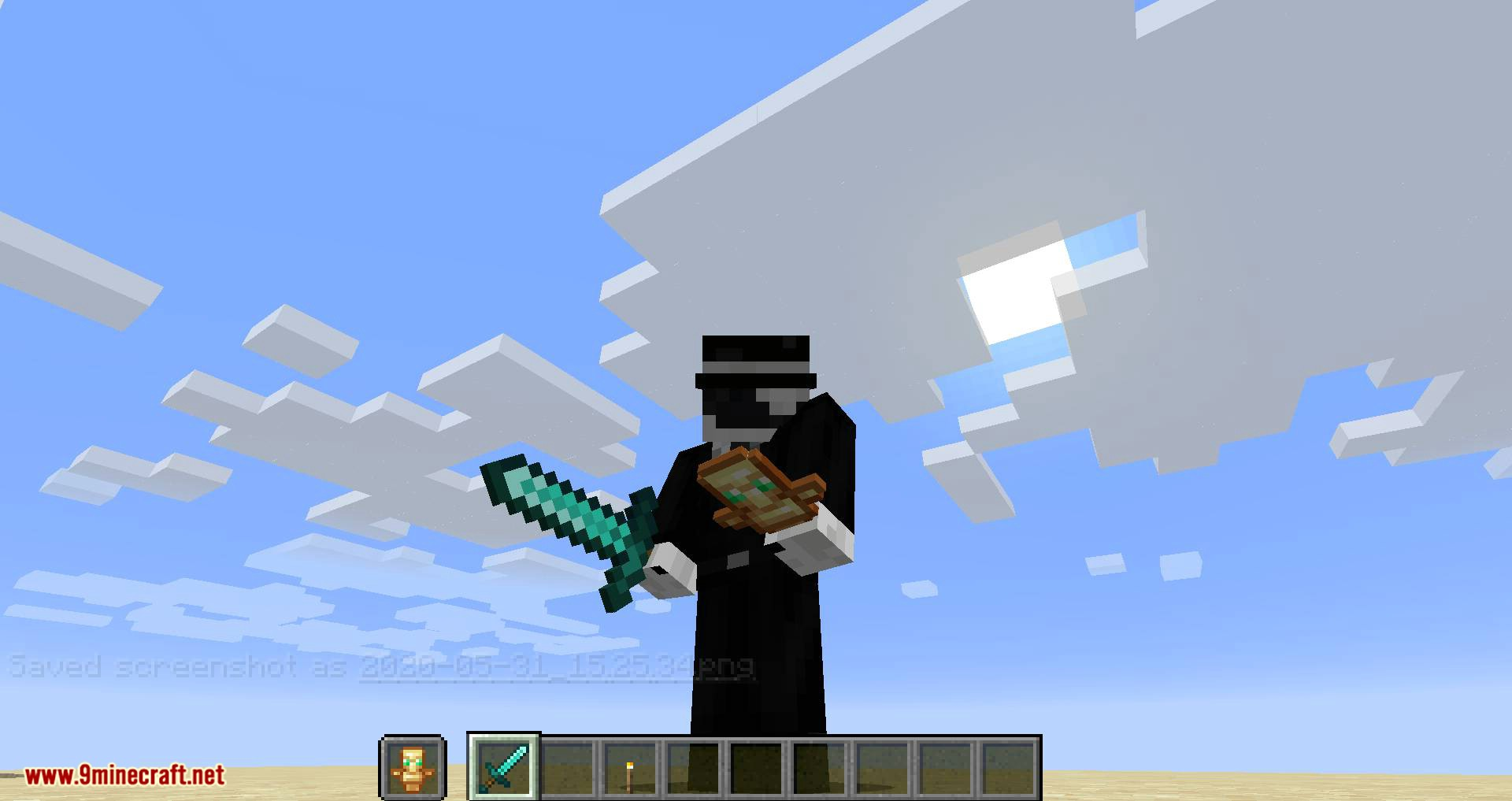 Hide Hands mod for minecraft 07