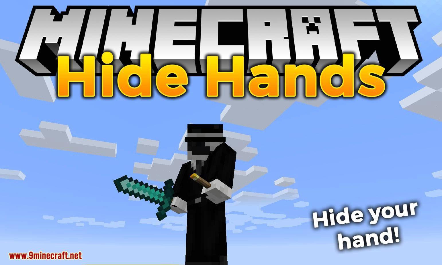 Hide Hands mod for minecraft logo