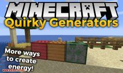Quirky Generators mod for minecraft logo