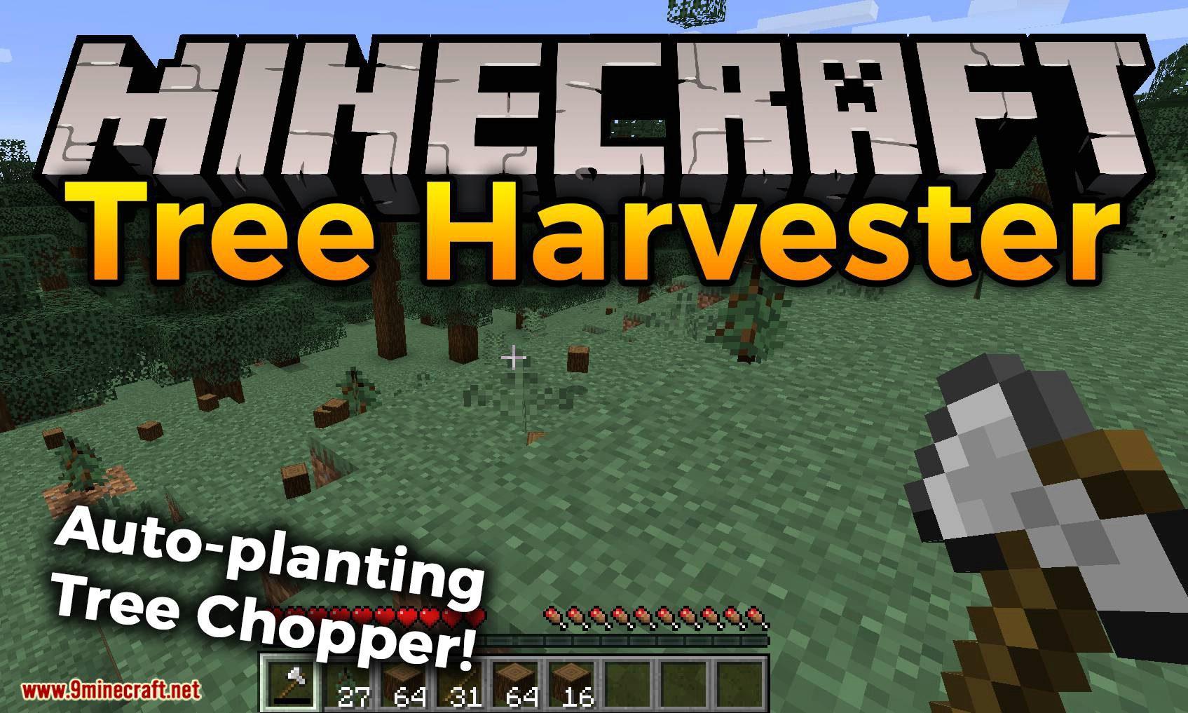 Tree Harvester mod for minecraft logo