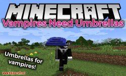 Vampires Need Umbrellas mod for minecraft logo