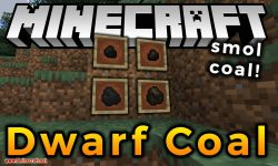 Dwarf Coal mod for minecraft logo
