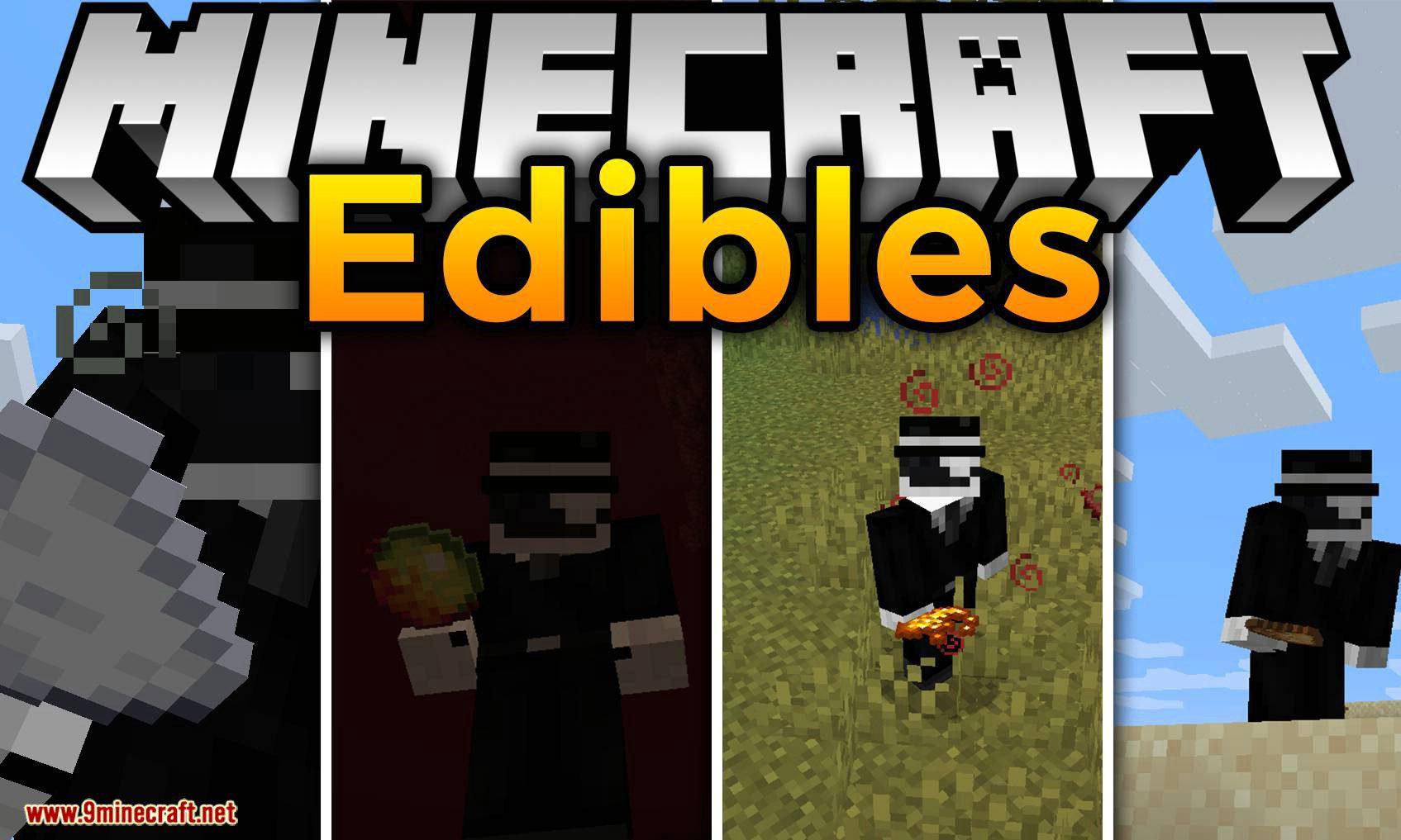 Edibles mod for minecraft logo