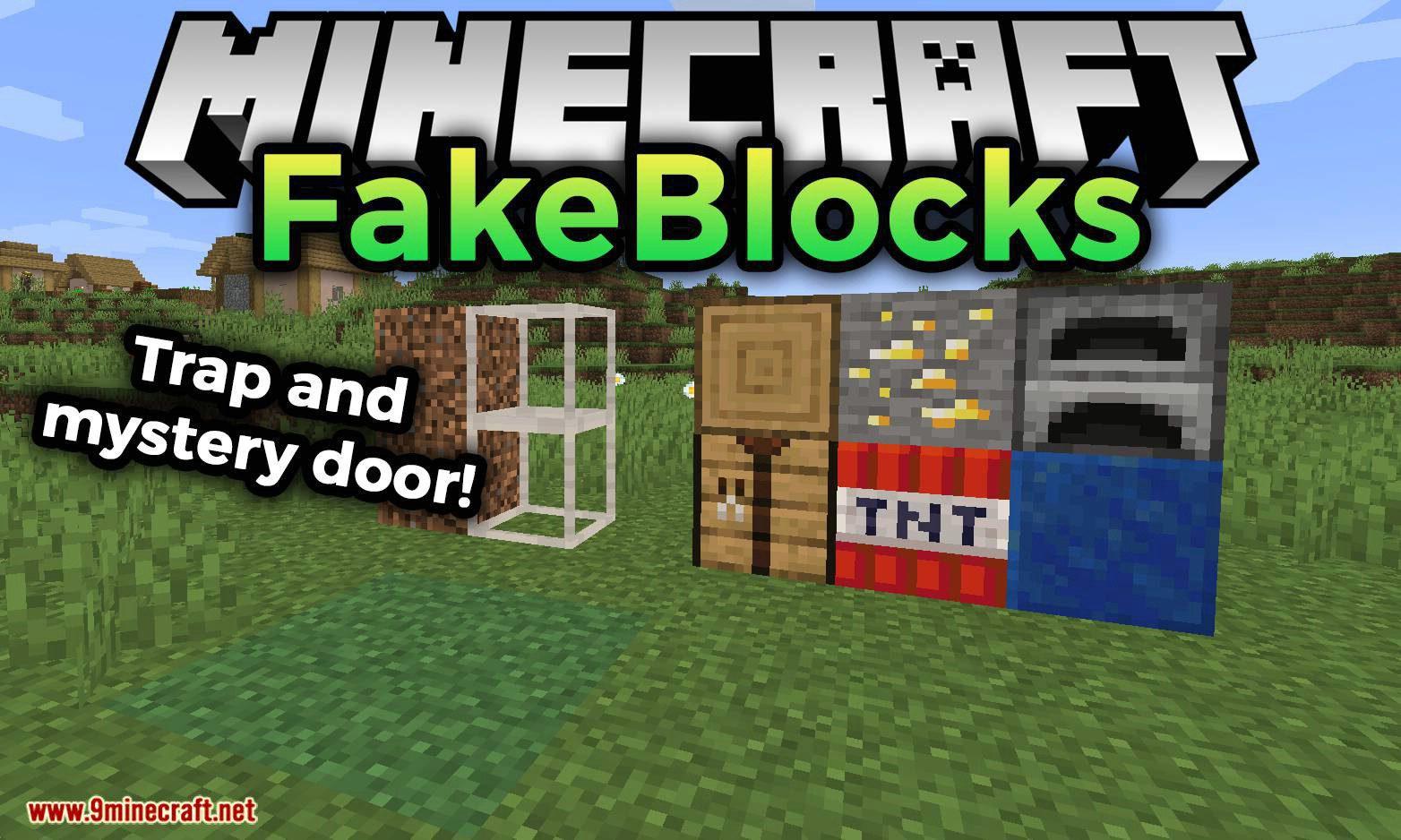 FakeBlocks mod for minecraft logo