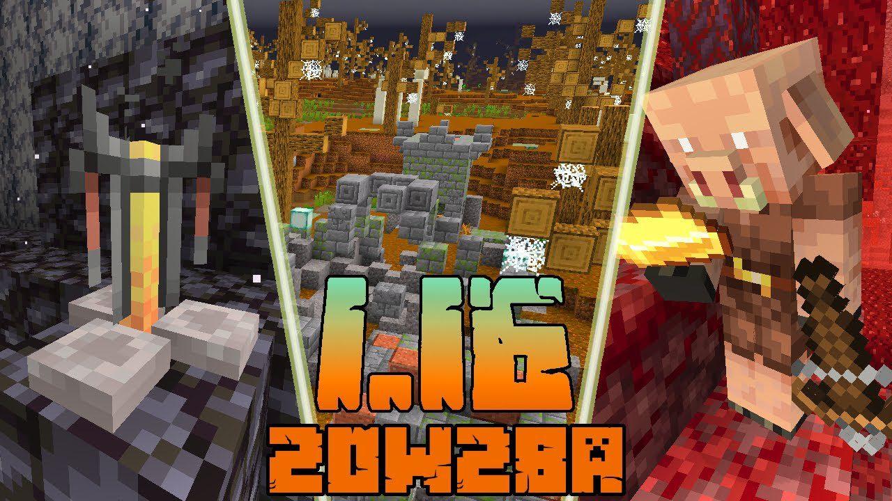 Minecraft 1.16.2 Snapshot 20w28a