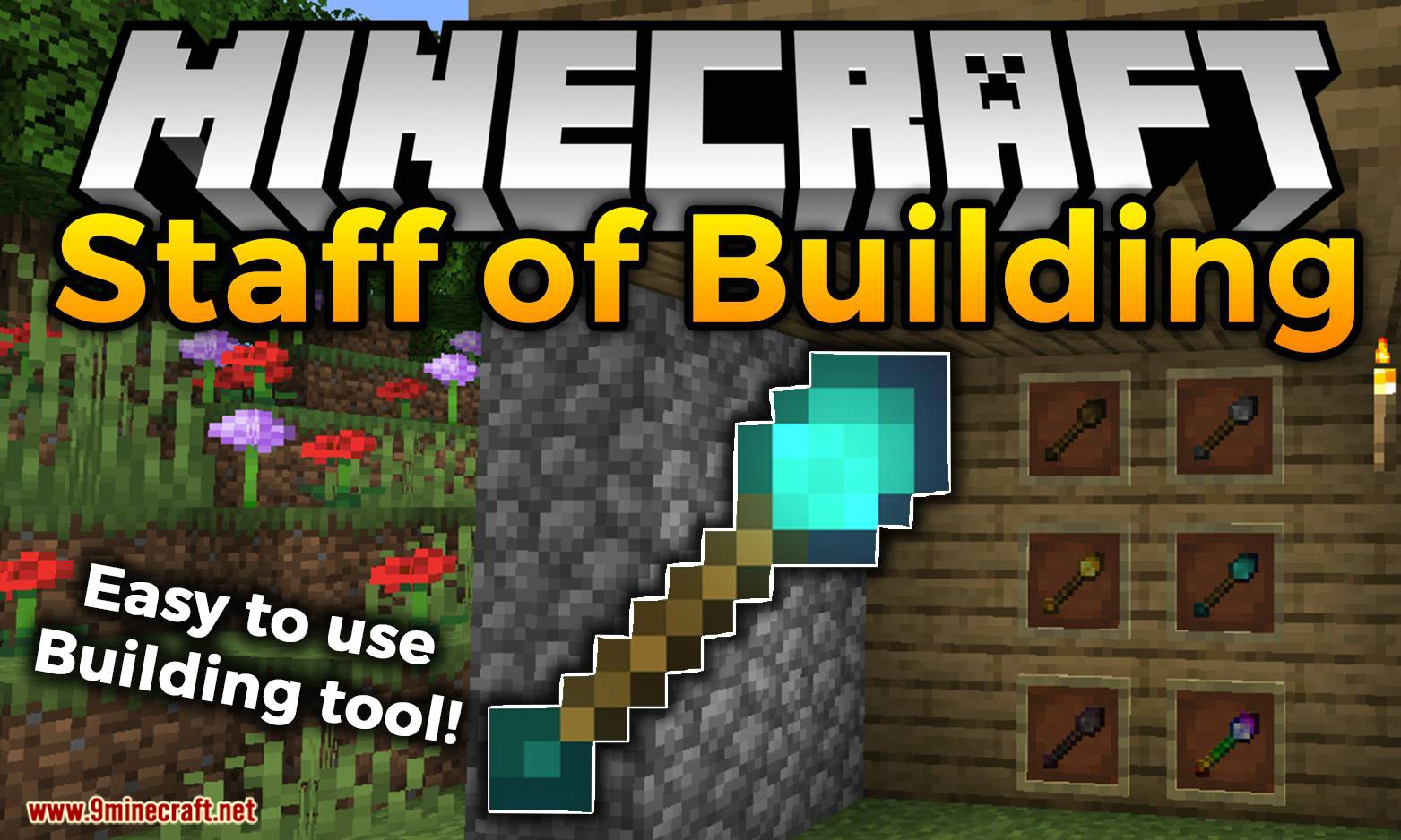 Staff of Building mod for minecraft logo