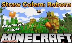 straw golem reborn mod for minecraft logo