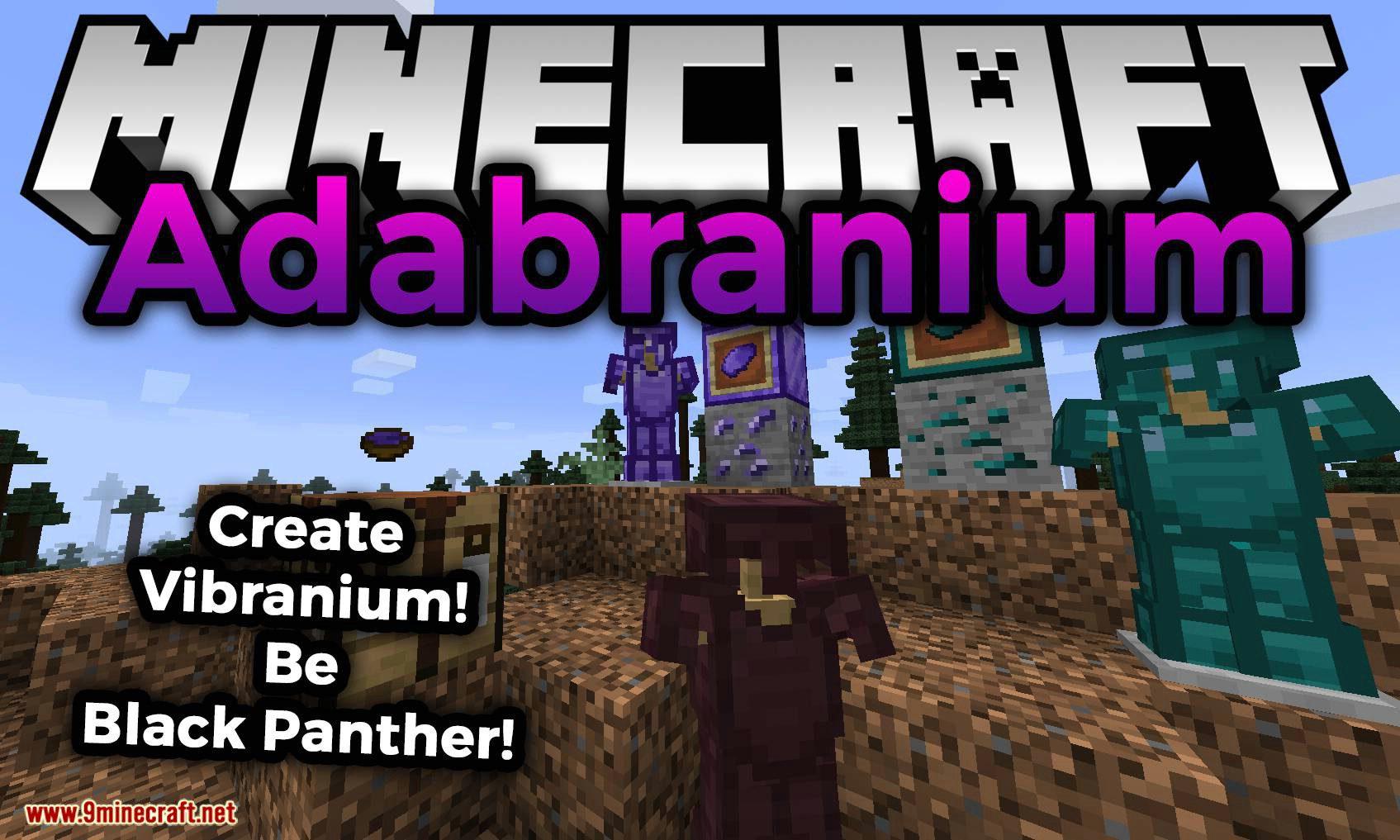 Adabranium mod for minecraft logo