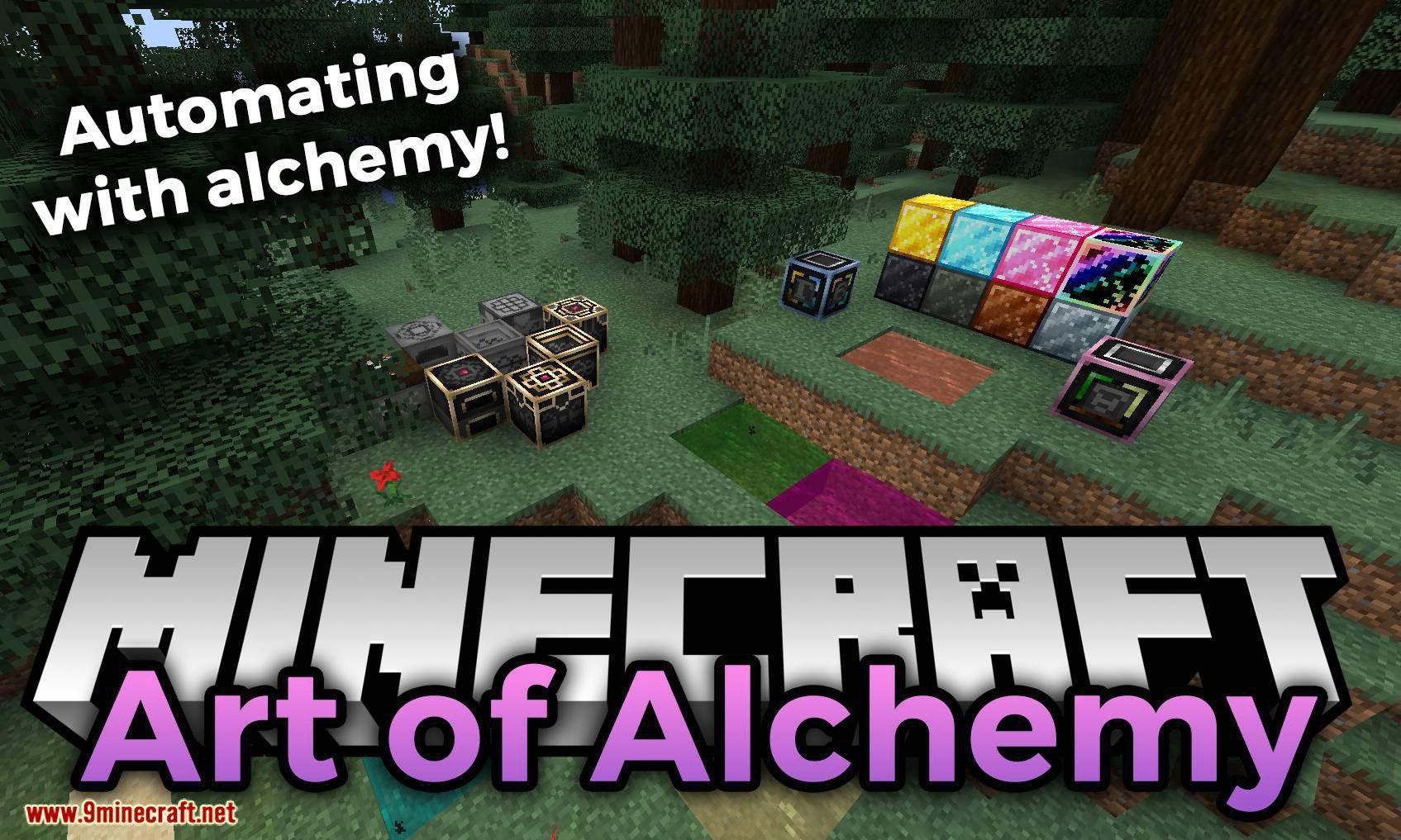 Art of Alchemy mod for minecraft logo