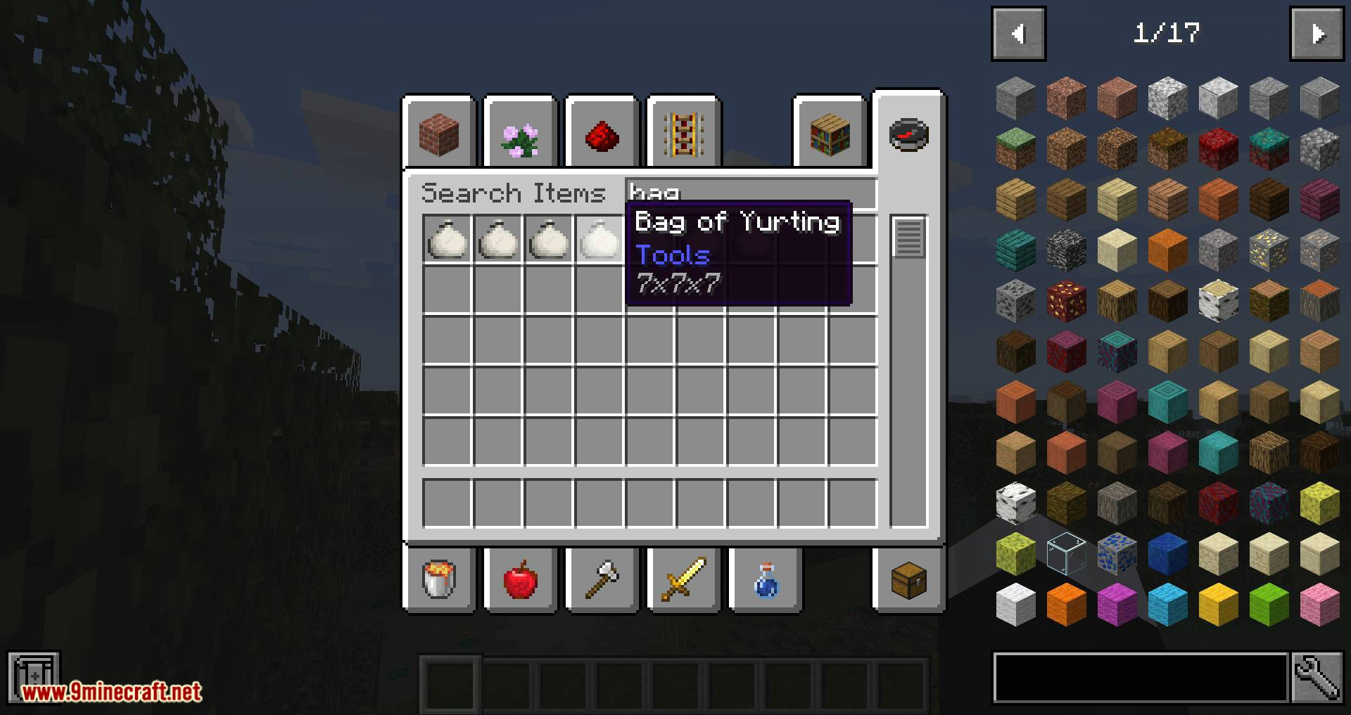 Bag of Yurting mod for minecraft 02