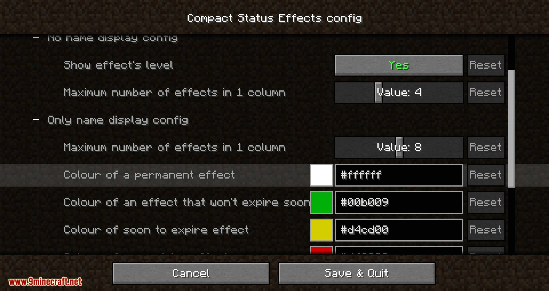 Compact Status Effects mod for minecraft 07