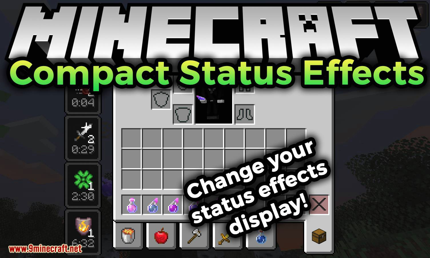 Compact Status Effects mod for minecraft logo