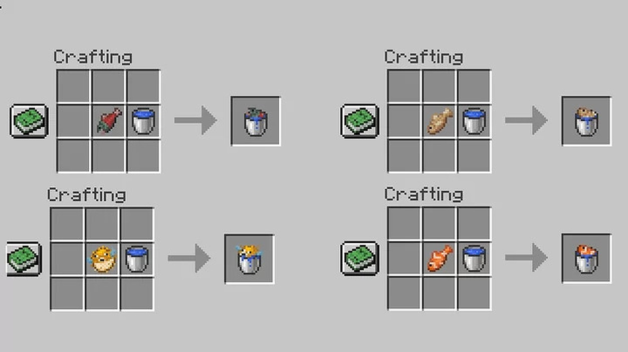 Fish in a bucket Data Pack Recipe
