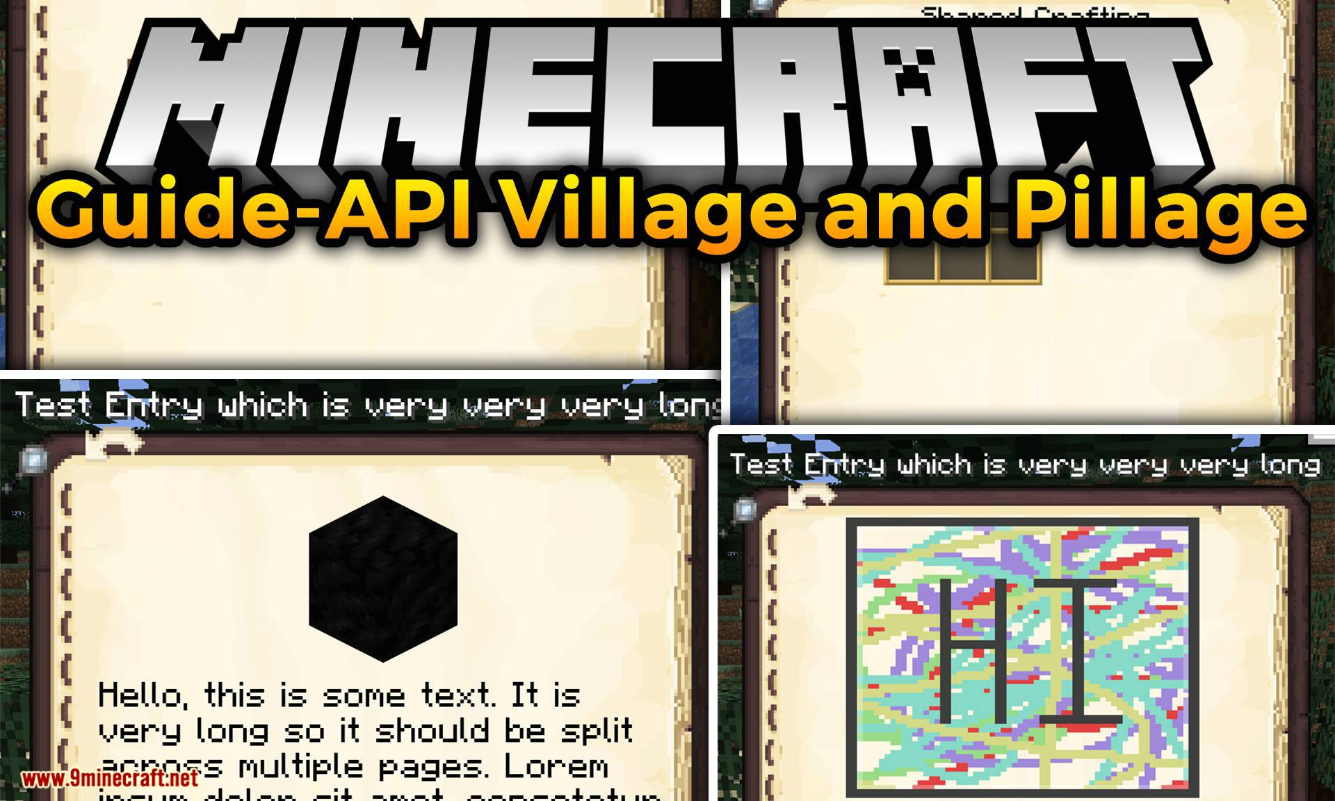 Guide-API Village and Pillage mod for minecraft logo