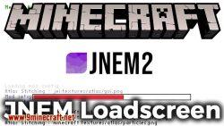 JNEM Loadscreen mod for minecraft logo