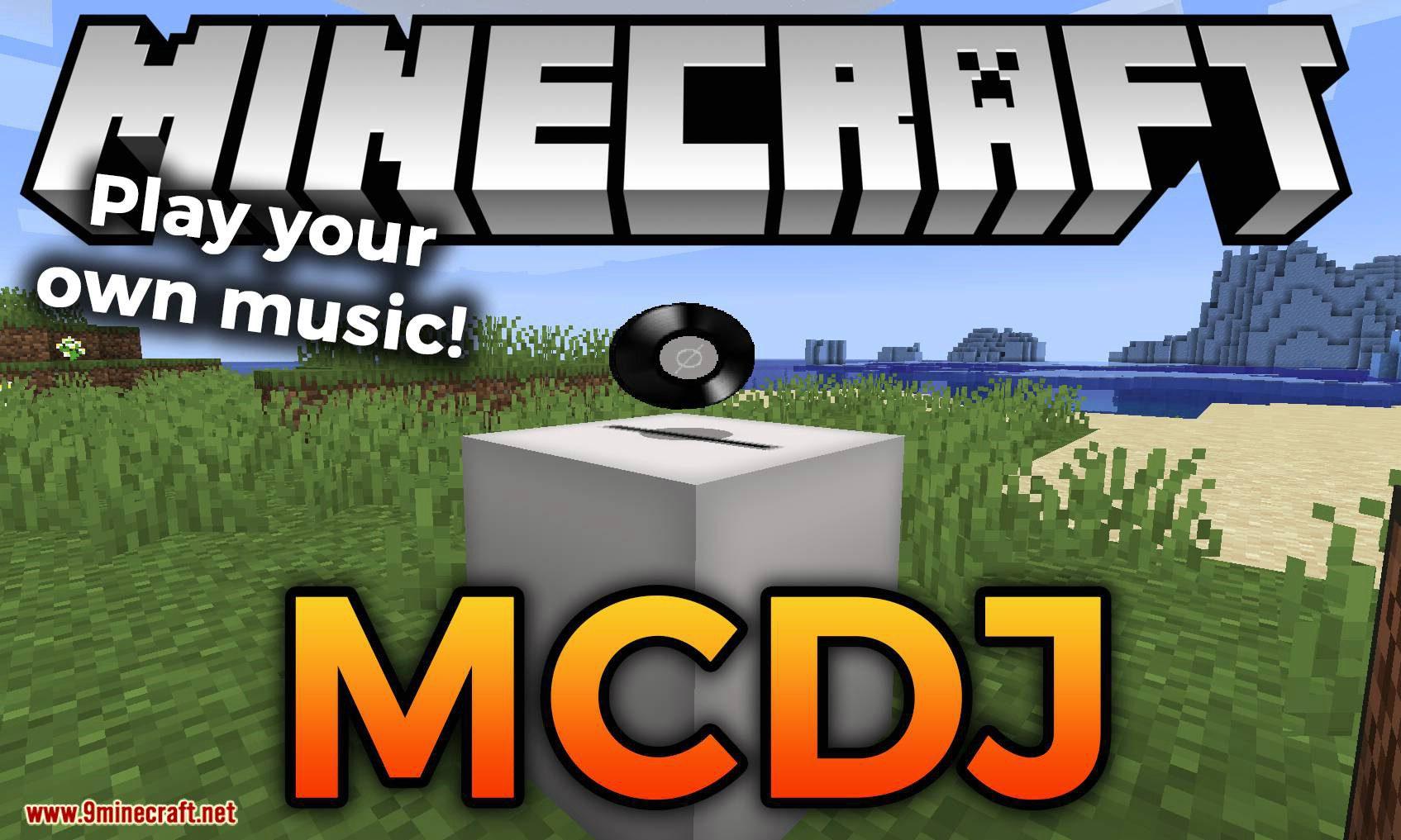 MCDJ mod for minecraft logo
