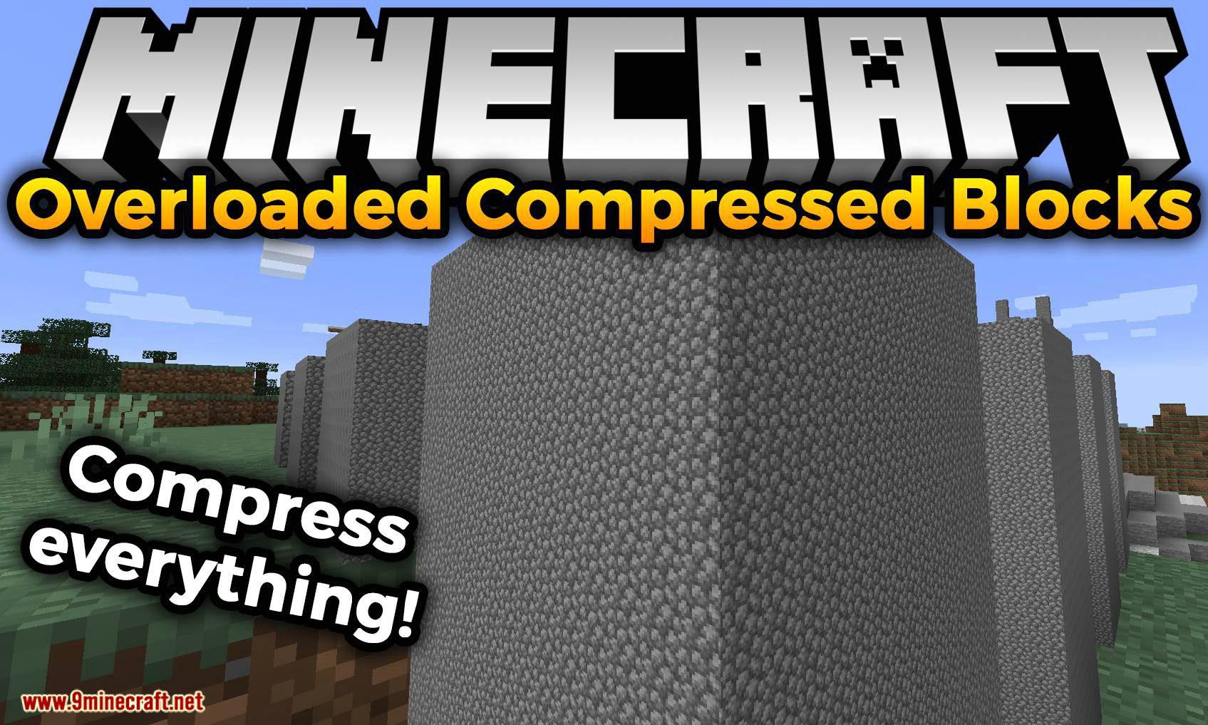Overloaded Compressed Blocks mod for minecraft logo