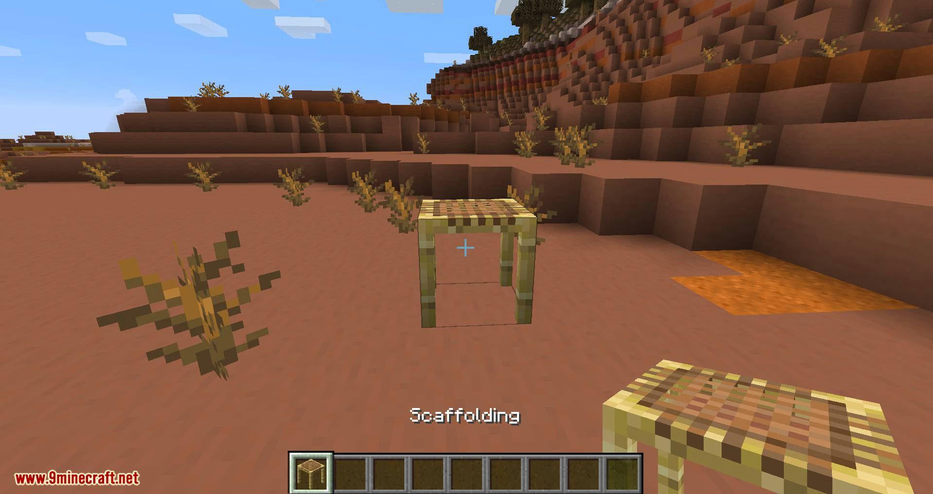Scaffolding behavior mod for minecraft 01