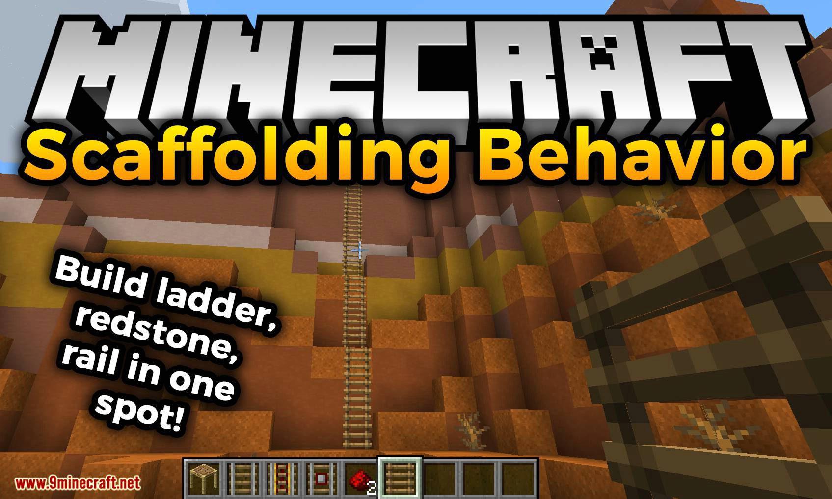Scaffolding behavior mod for minecraft logo