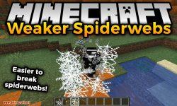 Weaker Spiderwebs mod for minecraft logo